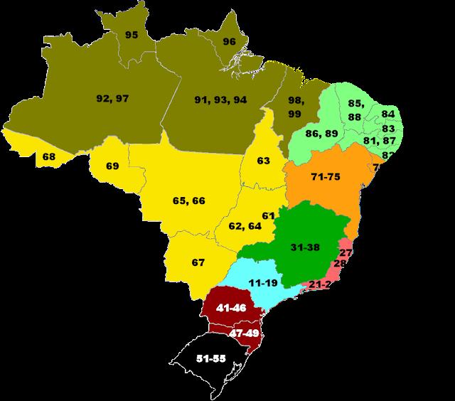 LISTA DE ESTADOS BRASILEIROS: Estrutura do Sistema Telefônico Brasileiro