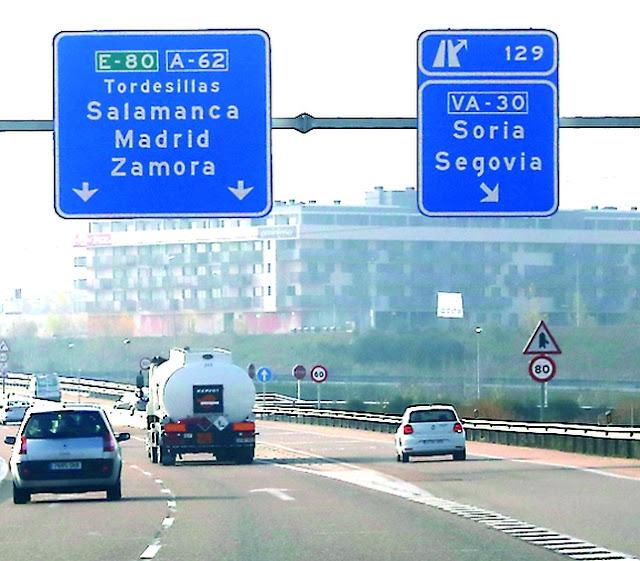 Estrada para chegar a Madri