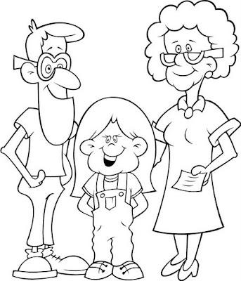 TE CUENTO UN CUENTO: Diferentes tipos de familias para colorear