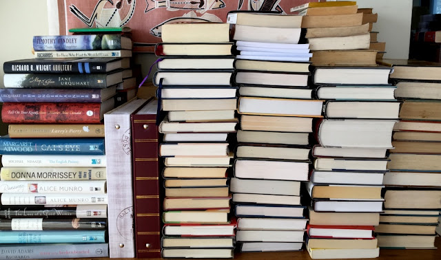 piles and books