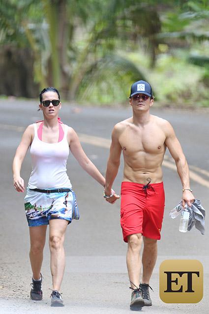 Katy Perry y Orlando Bloom lucieron muy románticos en Hawai.