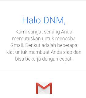 Akun Gmail anda sekarang sudah jadi,
