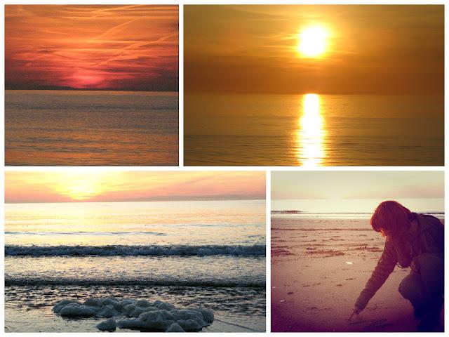 Заходи сонця над Північним морем
