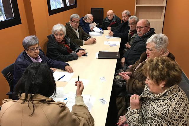 Integrantes de la asociación de jubilados