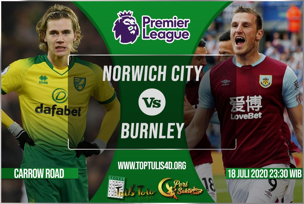 Prediksi Norwich City vs Burnley 18 Juli 2020