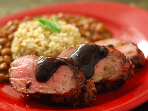 Pork tenderloin blackberry bbq sauce