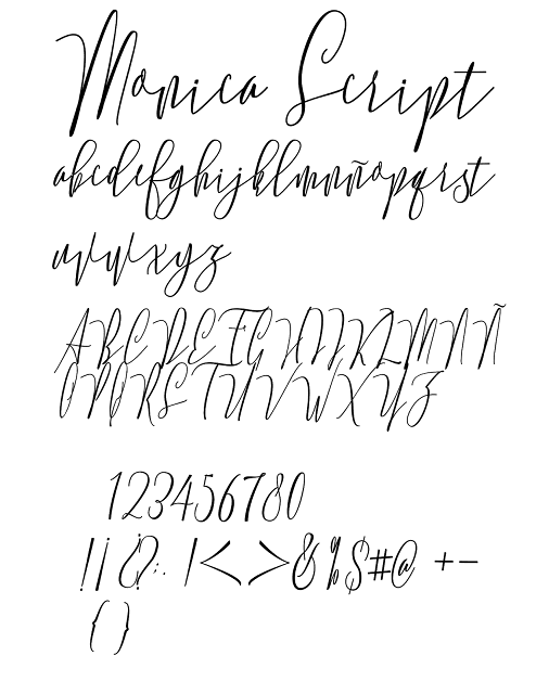 monica, script, font, fuente, tipografia, descargar