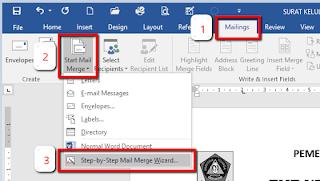 Langkah-langkah Cara Print Massal Menggunakan Fitur Mail Marge