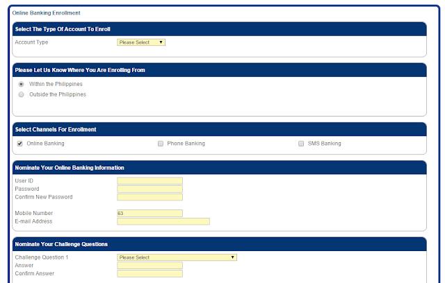 bdo cash card online application form