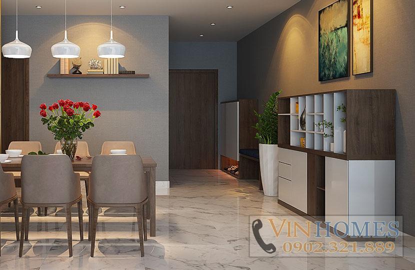 cho thuê căn hộ Vinhomes tòa Park 5 140m2 tầng trung nội thất mới - hinh 3