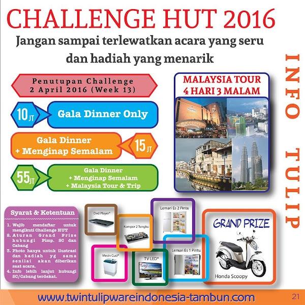 Challenge HUT Tulipware 2016