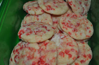 Red Hots Crinkle Cookies