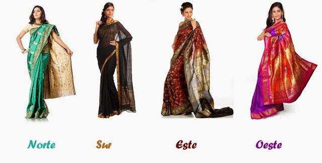 Saris del norte, sur, este y oeste