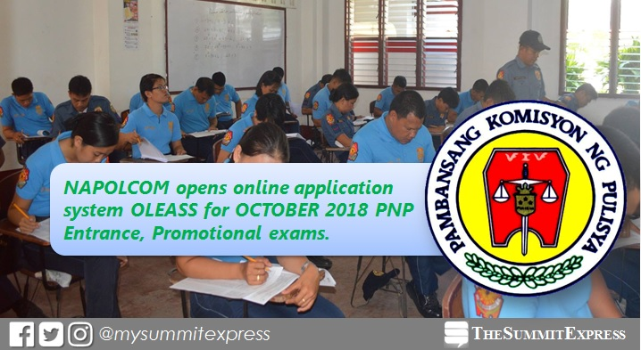 October 2018 NAPOLCOM online application form OLEASS now available