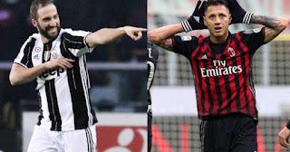 Juventus vs AC Milán en Supercopa de Italia 2016