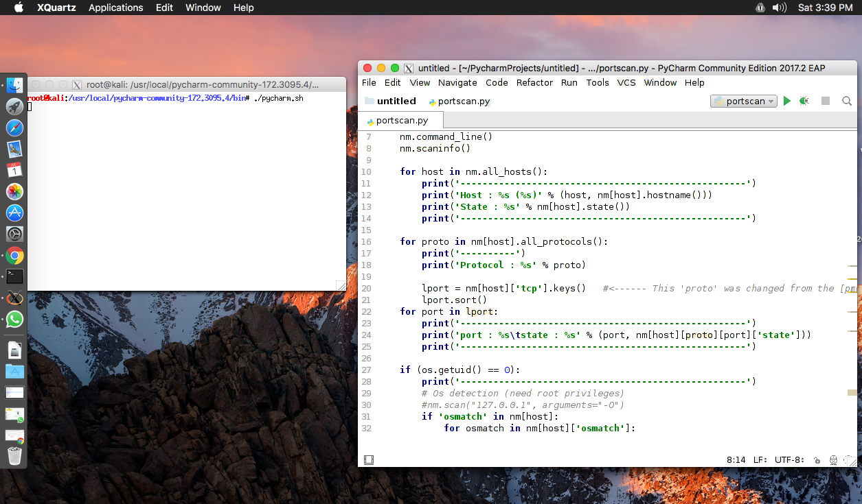 You now have a linux app that runs on mac pretty cool huh well for me atleast p