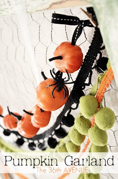 The 36th Avenue's pumpkin garland tutorial will make your next halloween party even more special