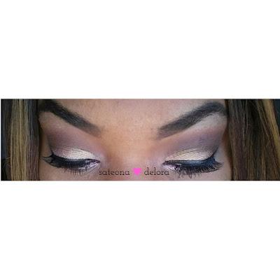 MAC melon pigment NYX eyeshadow in guilt trip Cherry Blossom Lashes #IW12