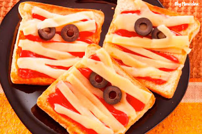 especial halloween recetas con niños sandwich venda queso blog mimuselina