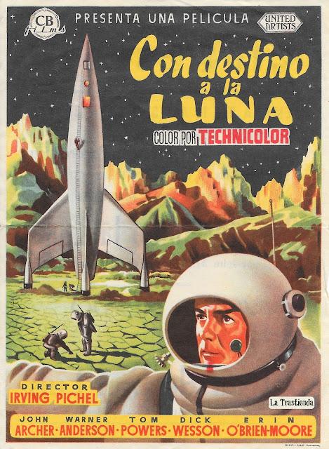 Con Destino a la Luna - Programa de mano - John Archer - Warner Anderson