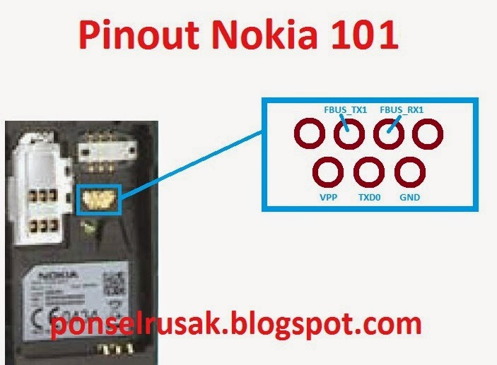 Image layout 2708 rx tx gnd vpp mbus on Nokia 101