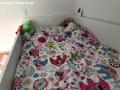 Bed in an Ikea Stuva loft bed