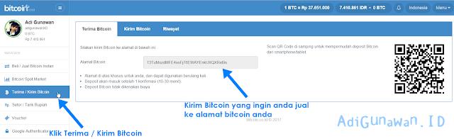 Cara Menjual Bitcoin di Indodax.com