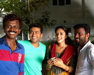 Surya-Pandiraj-AmalaPaul at Haiku Movie Shooting Spot