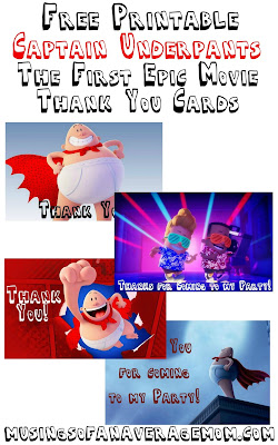captain underpants party printables