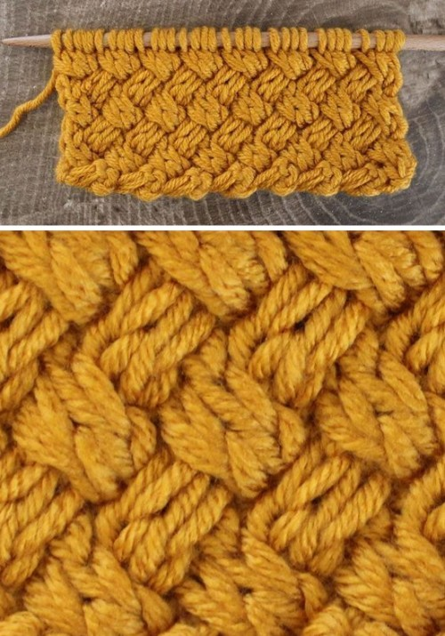 Basket Diagonal Weave Stitch - Tutorial