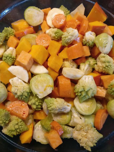Bunter Gemüsemix mit Gewürzen