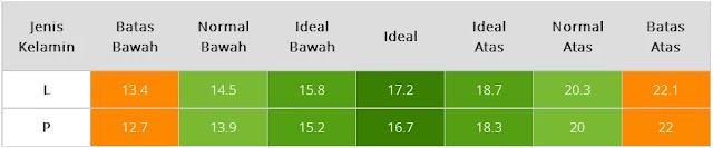 Tabel BMI Bayi Usia Empat Bulan