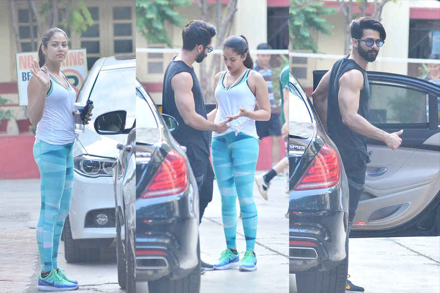 Shahid Kapoor with His Wife Mira Rajput at Gym