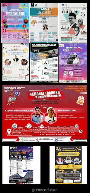 jasa desain brosur kegiatan dan seminar