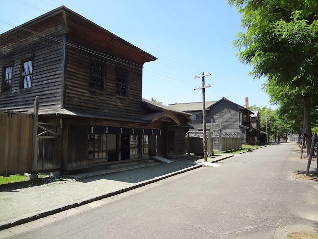 Casas del museo de la villa histórica de Hokkaido