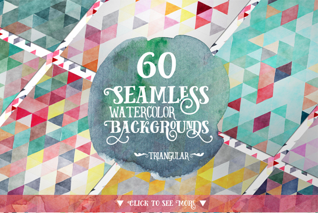 6 packs de fonds - 60 Seamless Watercolor Backgrounds par Creativeqube Design
