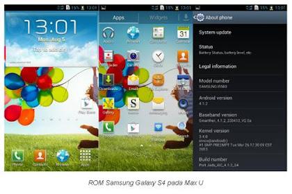 Custom ROM Model Samsung Galaxy S4 dan Sony Xperia untuk Andromax U