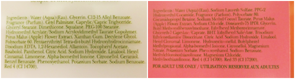 Crabtree & Evelyn Pear and Pink Magnolia  Inhaltsstoffe