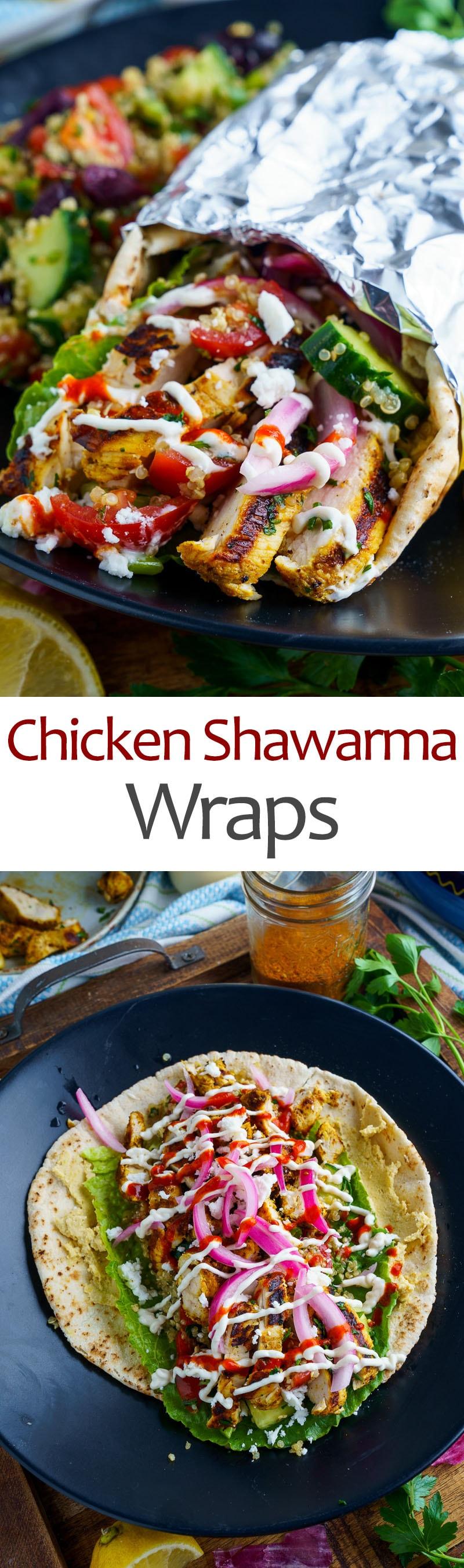 Chicken Shawarma Warps
