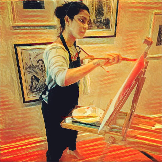 Priyanka-Chopra-Doing-Painter-picture-on-Instagram