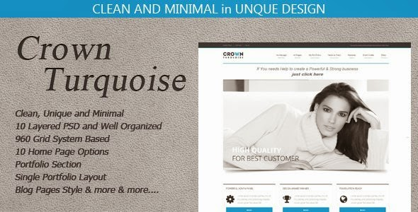 Crown Turquoise Multipurpose Single Page Shop Theme