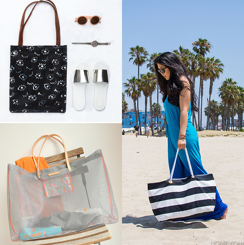 5 DIY to try # Summer tote bags