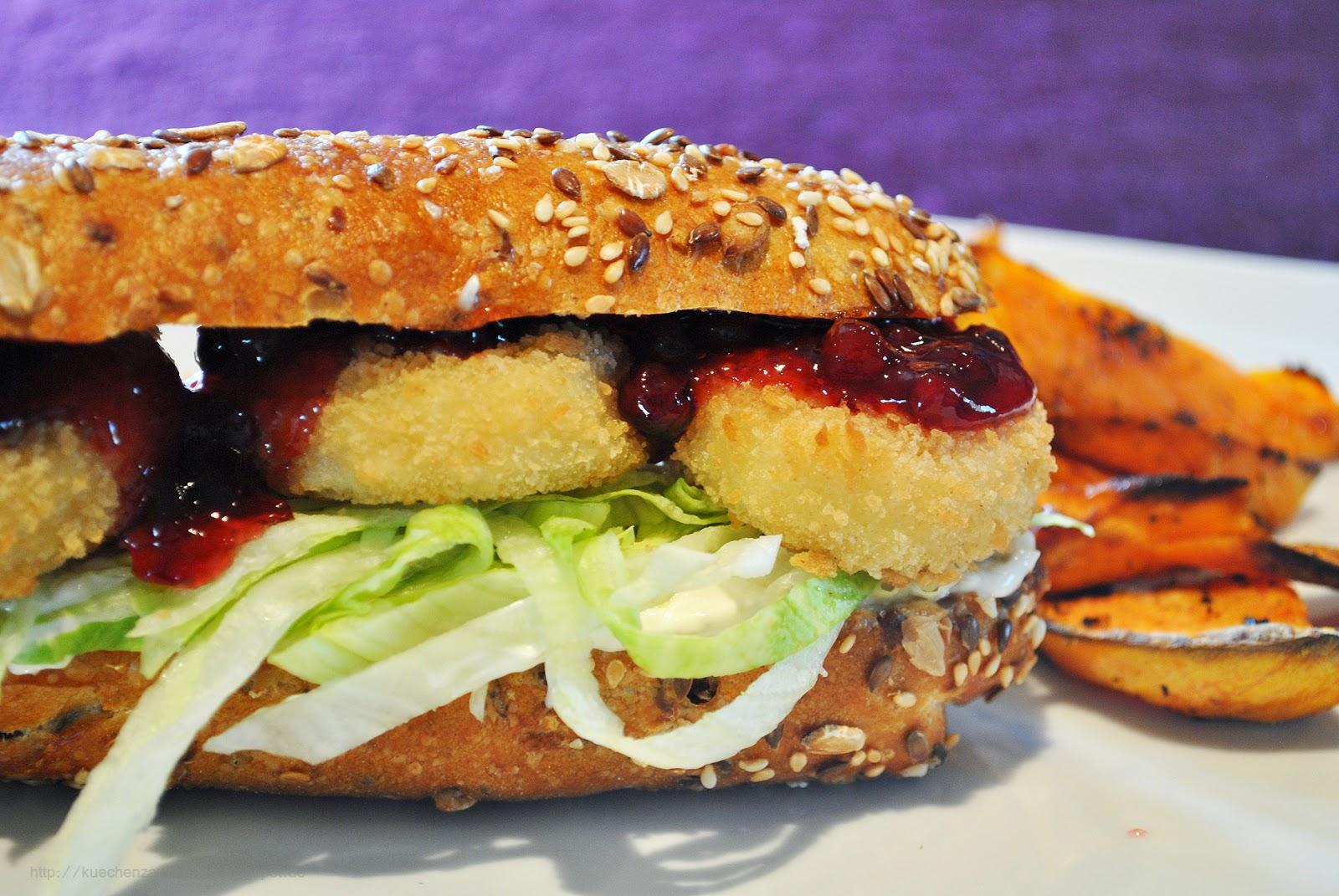 k chenzaubereien vegetarischer burger mit ziegenk se s kartoffel wedges. Black Bedroom Furniture Sets. Home Design Ideas