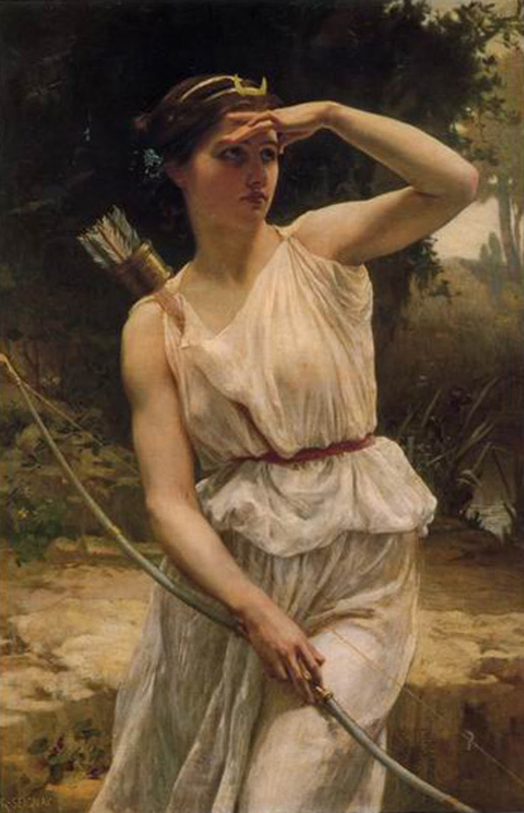 'Artemis', Diana the goddess of Greek mythology