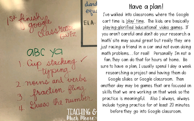 chrome book ideas to use in the classroom