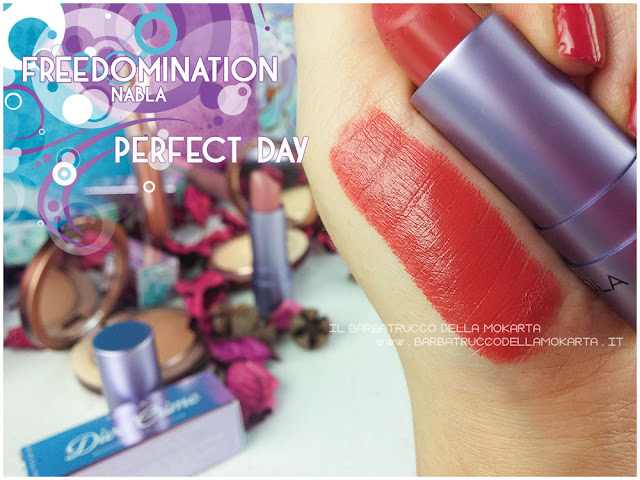 perfect day swatches  nabla cosmetics freedomination collection summer lipstick diva crime