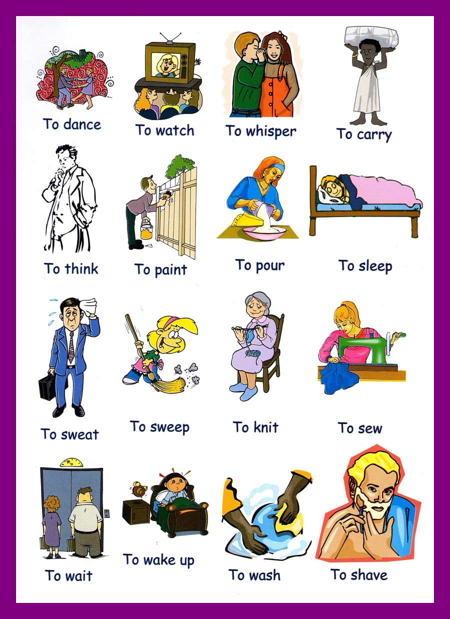 Action Verb Picture With English