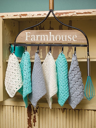 Easy to Crochet Farmhouse Dishcloth Patterns 6 Different Designs to Crochet
