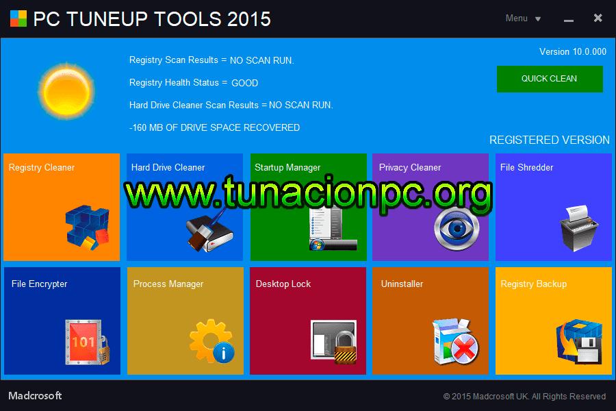 Madcrosoft PC TuneUp Tools, Optimiza tu Ordenador Imagen