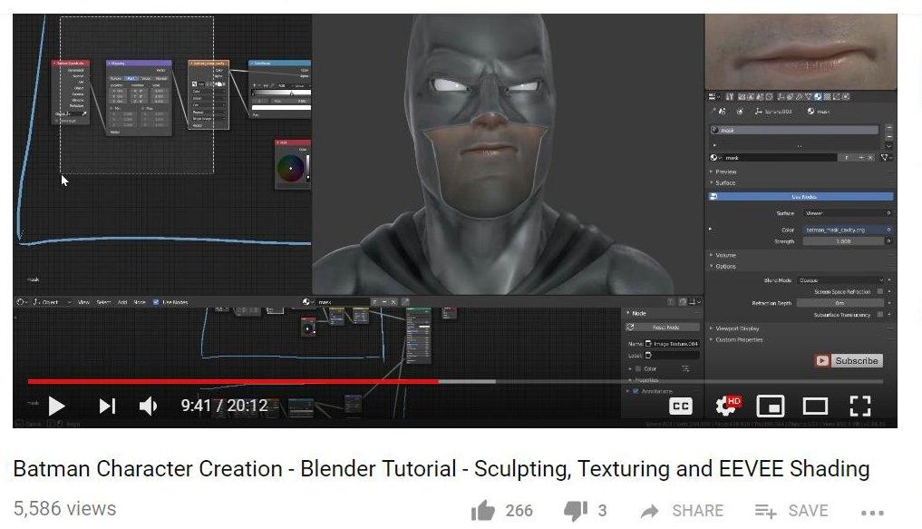 MC2 is BackUP: Batman Character Creation - Blender Tutorial -